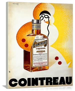 Cointreau Vintage Printed On Canvas