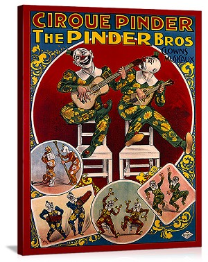 Cirque Pinder Vintage Printed On Canvas