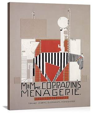 M & Mme Coradinis Menagerie Vintage Printed On Canvas