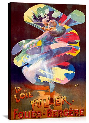 La Loie Fuller Folies Bergere Vintage Printed On Canvas