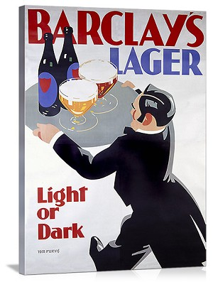 Barclays Lager: Light or Dark Vintage Printed On Canvas