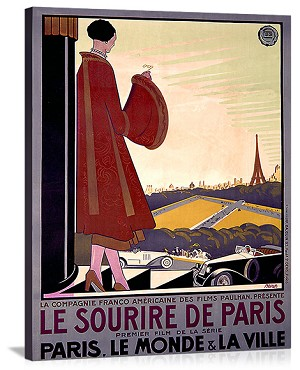 Le Sourire de Paris Vintage Printed On Canvas