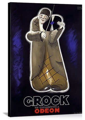 Grock Vintage Printed On Canvas