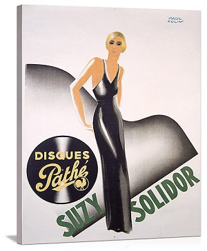 Suzy Solidor Disques Pathe Vintage Printed On Canvas