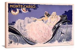 Monte Carlo Vintage Printed On Canvas
