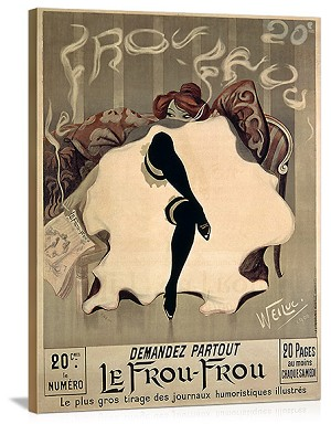 Le Frou Frou Vintage Printed On Canvas