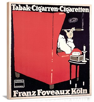 Tabak Cigarren Cigaretten Vintage Printed On Canvas