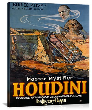 Houdini Buried Alive Vintage Printed On Canvas