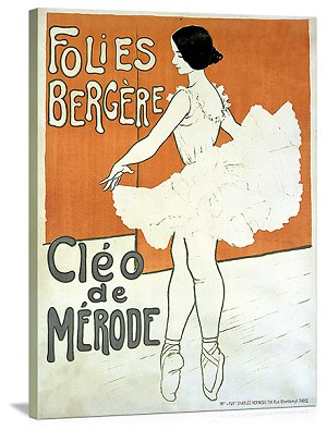 Cleo de Merode Folies Bergere Vintage Printed On Canvas