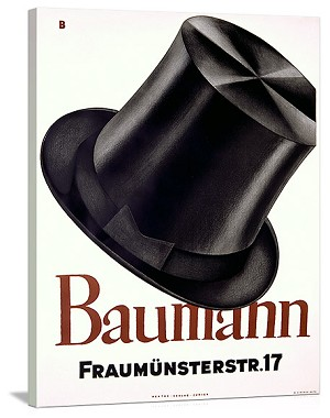 Baumann Vintage Printed On Canvas