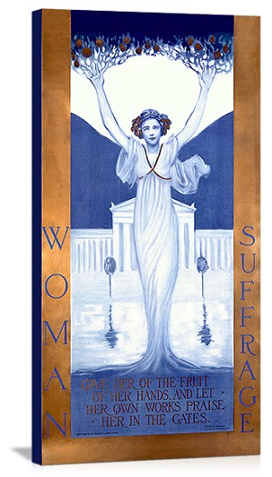 Woman Suffrage Vintage Printed On Canvas