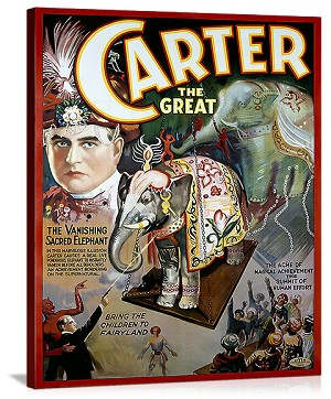 Carter the Great Vintage Printed On Canvas