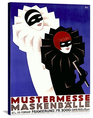 Masquerade Ball Mustermesse Ball Vintage Printed On Canvas