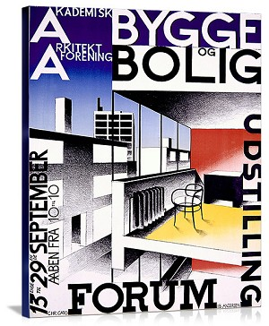 Forum Bygge Bolig Vintage Printed On Canvas