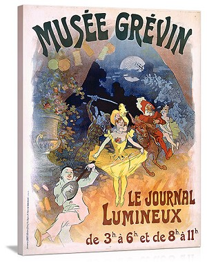 Musee Grevin Le Journal Lumineux Vintage Printed On Canvas