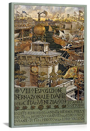 International Exposition Vintage Printed On Canvas
