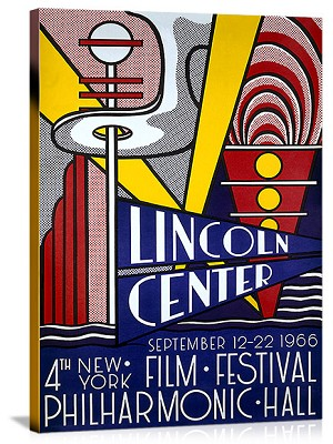 Lincoln Center Film Festival Vintage Printed On Canvas