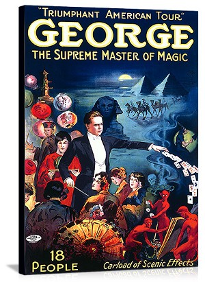 George The Supreme Master of Magic Vintage Printed On Canvas