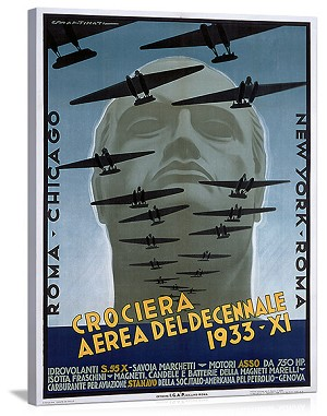 Croceria Aerea del Decennale Vintage Printed On Canvas