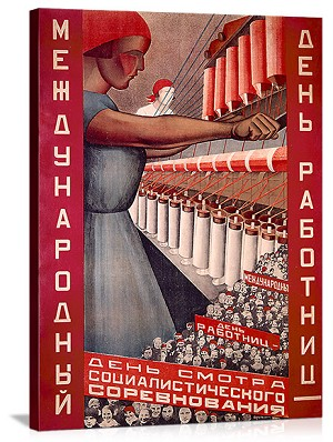 Russian Woman during the War Vintage Printed On Canvas