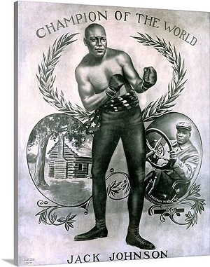 Jack Johnson Champion of the World Vintage Printed On Canvas