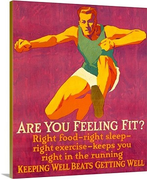 Are you feeling Fit Vintage Printed On Canvas