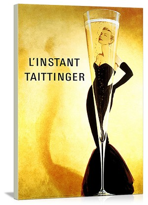 L'Instant Taittinger Vintage Printed On Canvas