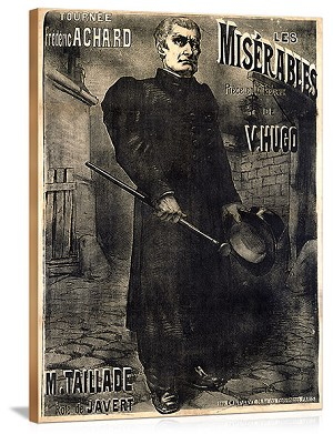 Les Miserables 1899 Vintage Printed On Canvas
