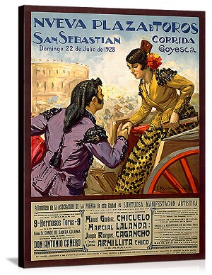 Paza d Toros San Sebastian Vintage Printed On Canvas