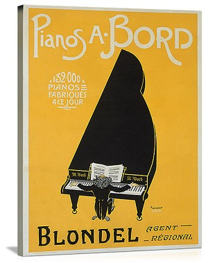 Pianos A. Bord Vintage Printed On Canvas