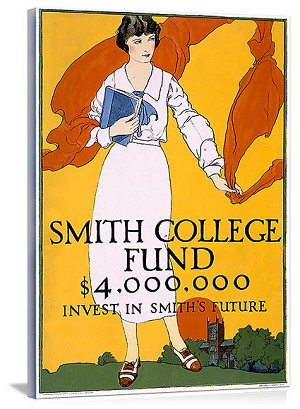 Smith College Fund Vintage Printed On Canvas
