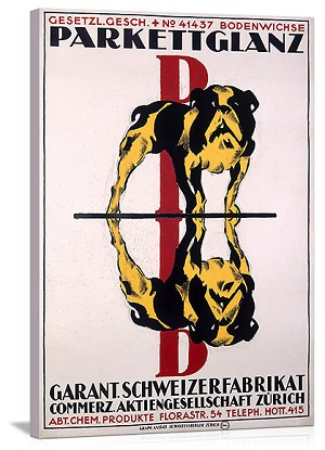 Parkettglanz Bulldog Glass Cleaner Vintage Printed On Canvas