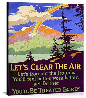 Lets Clear the Air Vintage Printed On Canvas