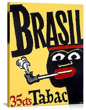 Brazil Pipe Tobacco Vintage Printed On Canvas