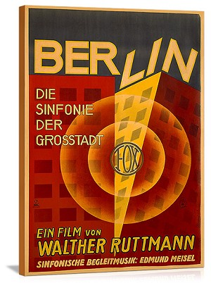 Berlin Symphony of a Great City Vintage Printed On Canvas