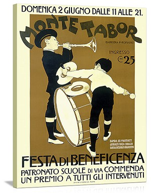 Monte Tabor Bennefit Festa Vintage Printed On Canvas