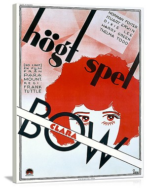 Clara Bow Hogt Spel Vintage Printed On Canvas