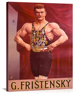 Fristensky Strong Man Vintage Printed On Canvas