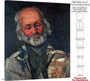 "Classic Artwork by Paul Cezanne Head of an Old Man Canvas Wrap 18"" x 20"""