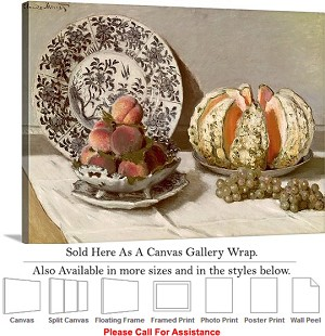 "Classic Artwork Piece by Claude Monet Still Life Canvas Wrap 30"" x 22"""