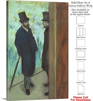 "Classic Art by Edgar Degas Friends at the Theatre Canvas Wrap 20"" x 30"""