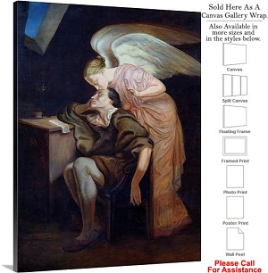 "Classic Art by Paul Cezanne The Dream of the Poet Canvas Wrap 23"" x 30"""
