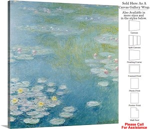 "Classic Art by Claude Monet of Nympheas at Giverny Canvas Wrap 20"" x 20"""