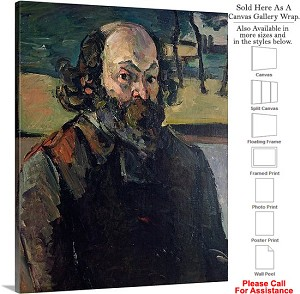 "Classic Artwork by Paul Cezanne A Self Portrait Canvas Wrap 19"" x 24"""