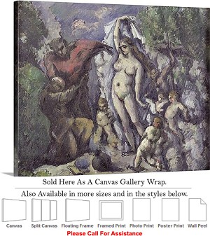 "Classic Art Paul Cezanne Temptation of St. Anthony Canvas Wrap 24"" x 19"""
