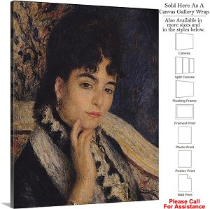"Classic Art by Pierre Auguste Renoir Madame Daudet Canvas Wrap 19"" x 24"""