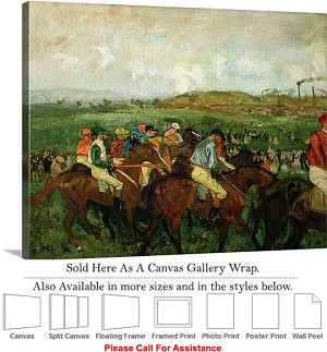 "Classic Art by Edgar Degas of Before the Departure Canvas Wrap 24"" x 19"""