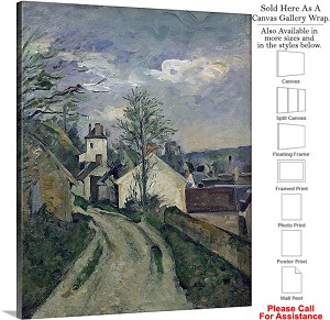 "Classic Art Paul Cezanne House of Doctor Gachet  Canvas Wrap 19"" x 24"""