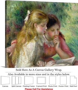 "Classic Art by Pierre Auguste Renoir The Reading Canvas Wrap 30"" x 25"""