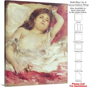 "Classic Art by Pierre Auguste Renoir Woman in Bed Canvas Wrap 19"" x 24"""